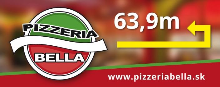 Informačná tabuľa - Pizzeria Bella